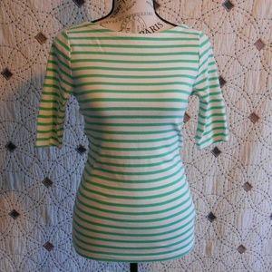 EUC GAP Striped Scoop Back Shirt S